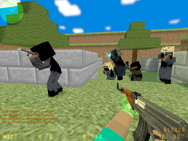 Скачать Counter-Strike 1.6 Minecraft