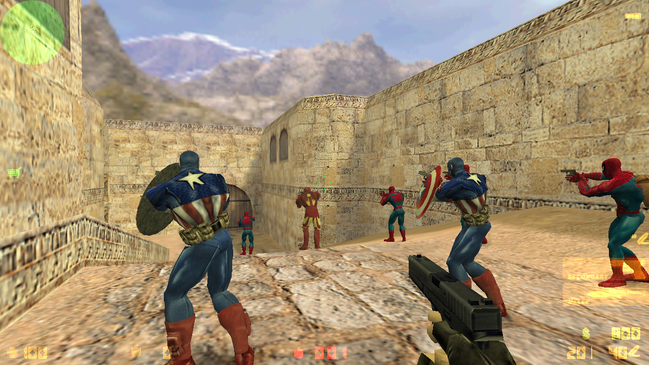 Скачать Counter-Strike 1.6 SuperHeroes